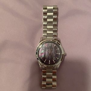 Stainless steel with pearl dial Michael kors watch
